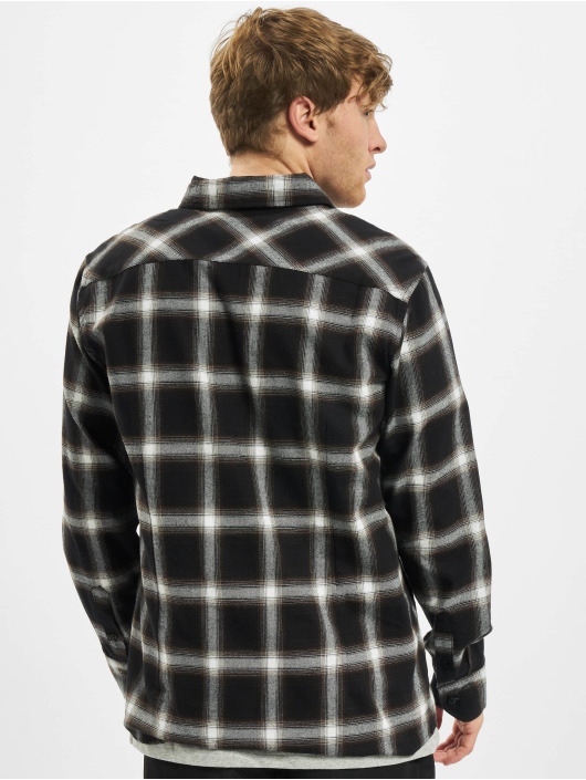 Urban Classics Shirt Checked 6 Flanell black