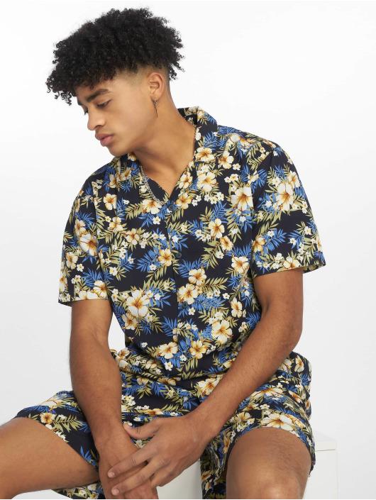 Urban Classics Shirt Pattern Resort blue