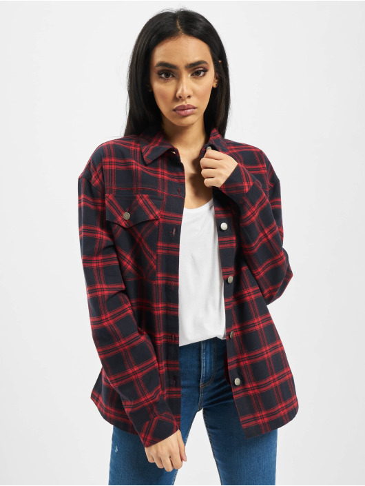 Urban Classics Shirt Ladies Oversized Over blue