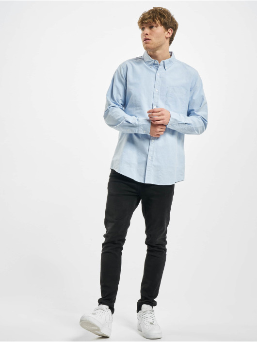 Urban Classics Shirt Basic Oxford blue