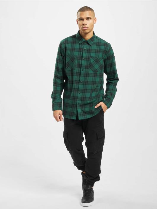 Urban Classics Shirt Checked 7 Flanell green