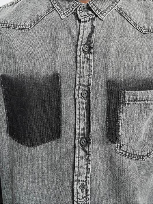 Urban Classics Shirt Denim Pocket grey
