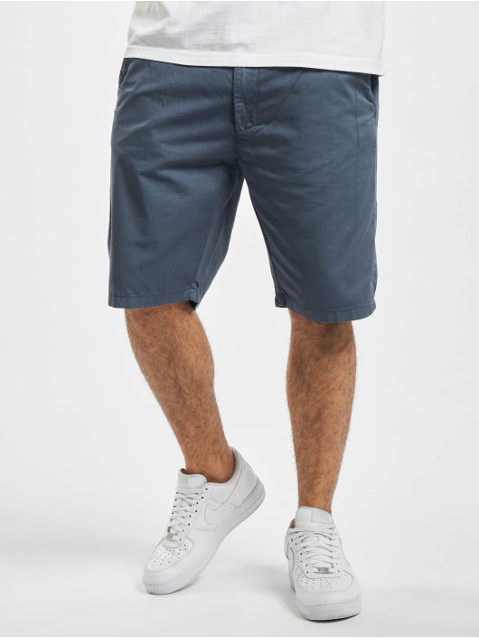 Urban Classics Short Straight Leg Chino With Belt blue