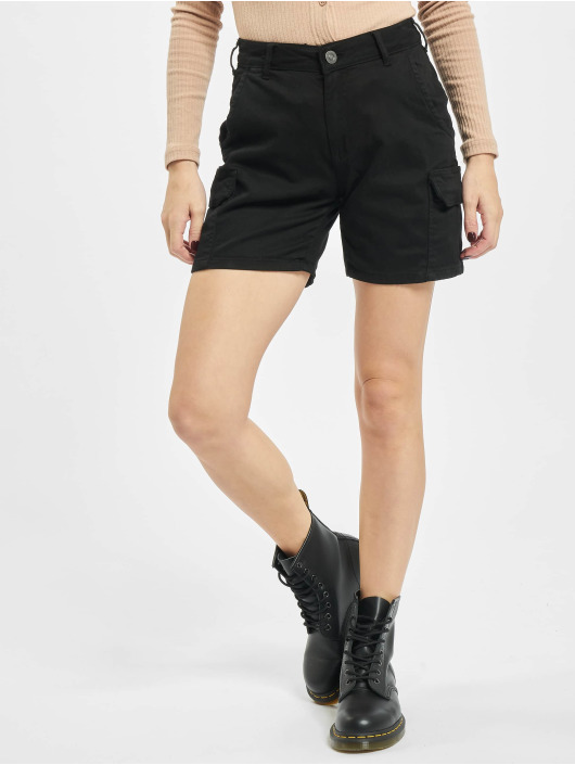Urban Classics Short High Waist Cargo noir