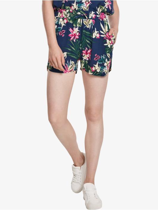 Urban Classics Shorts Ladies All Over Print Viscose Resort blau