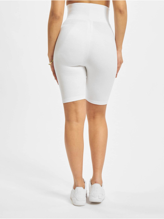 Urban Classics Shorts Ladies High Waist Cycle hvit