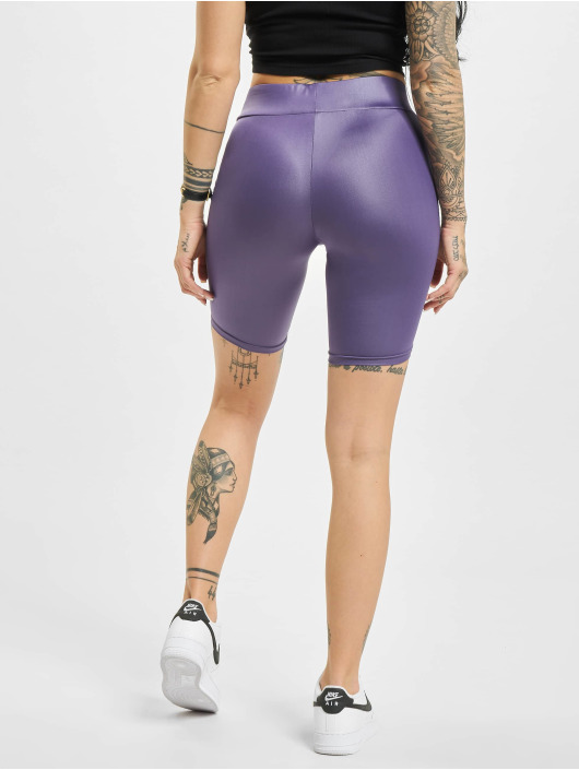 Urban Classics shorts Imitation Leather Cycle paars