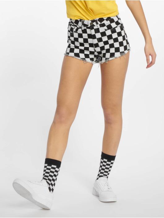 Urban Classics Shorts Check Twill schwarz