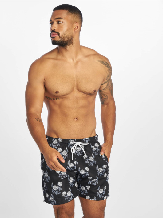 Urban Classics Shorts Pattern Swim schwarz