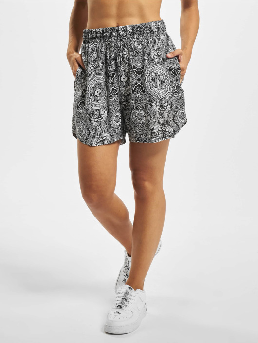 Urban Classics Shorts Ladies All Over Print Viscose Resort svart