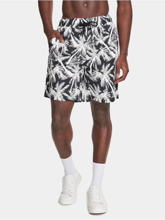 Urban Classics shorts Pattern Resort zwart