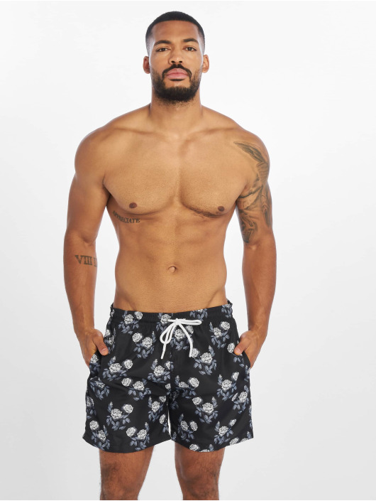 Urban Classics shorts Pattern Swim zwart