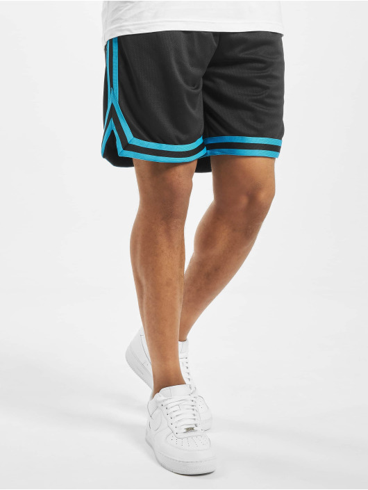 Urban Classics shorts Stripes Mesh zwart