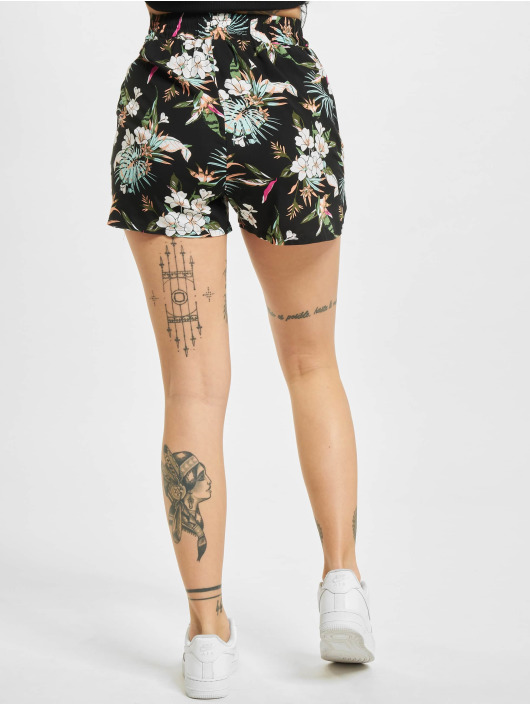 Urban Classics shorts Ladies Aop Viscose Resort zwart