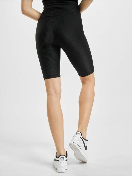 Urban Classics shorts High Waist Shiny Rib Cycle zwart