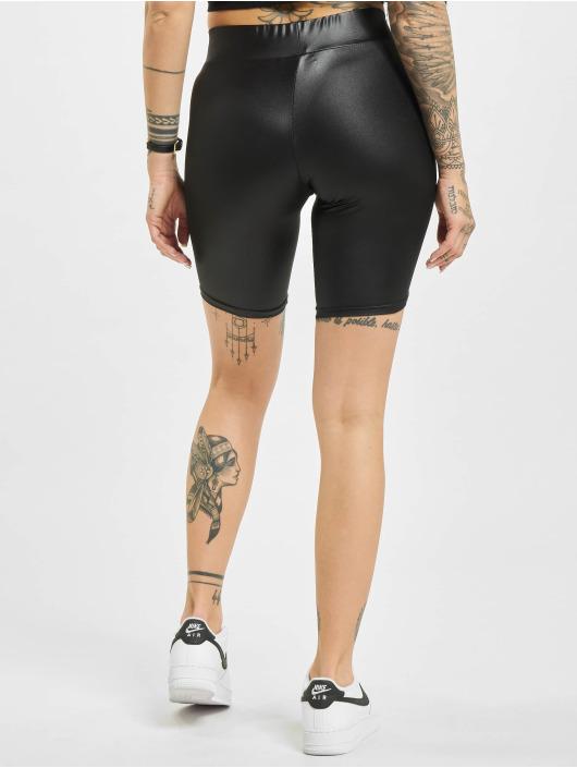 Urban Classics shorts Imitation Leather Cycle zwart