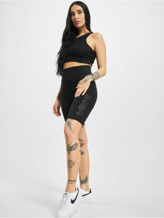 Urban Classics shorts High Waist Branded Cycle zwart