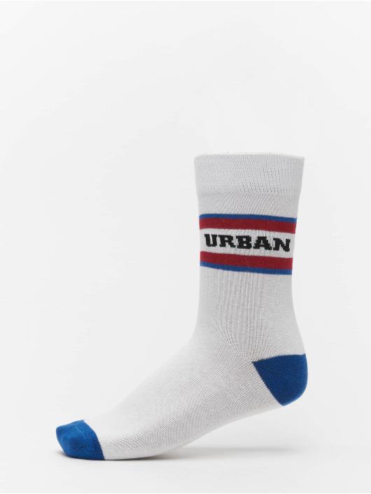 Urban Classics Skarpetki 2-Pack Logo Stripe Sport bialy