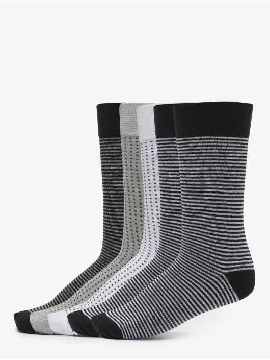 Urban Classics Skarpetki Stripes And Dots Socks 5-Pack czarny