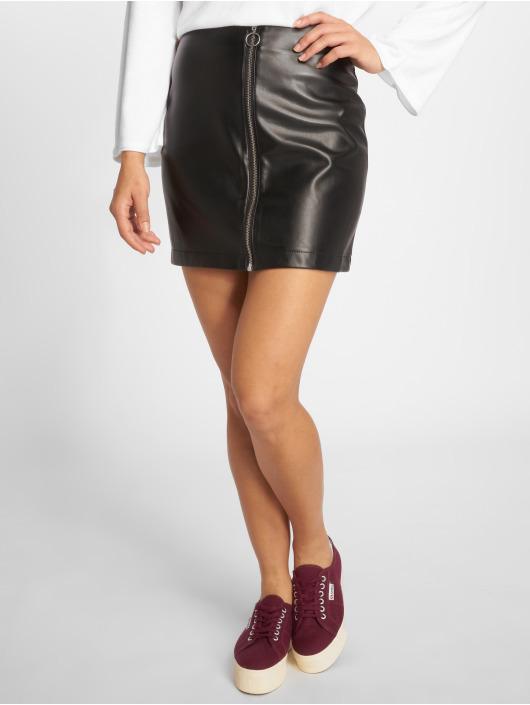 Urban Classics Skjørt Faux Leather Zip svart