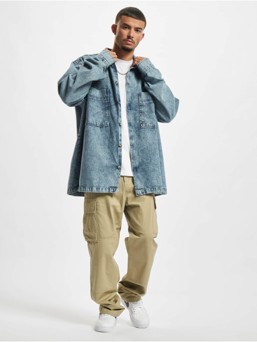 Urban Classics Skjorta Oversized Denim blå