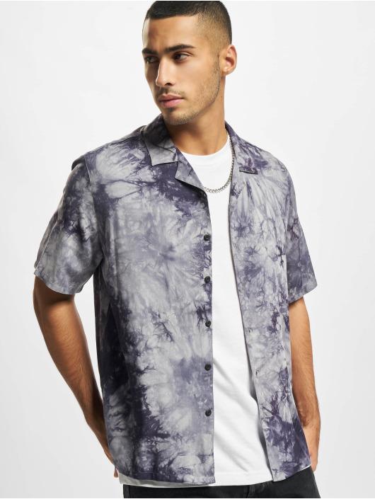 Urban Classics Skjorta Tye Dye blå