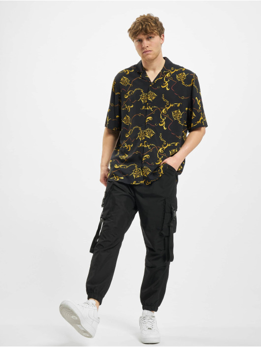 Urban Classics Skjorta Viscose Resort svart