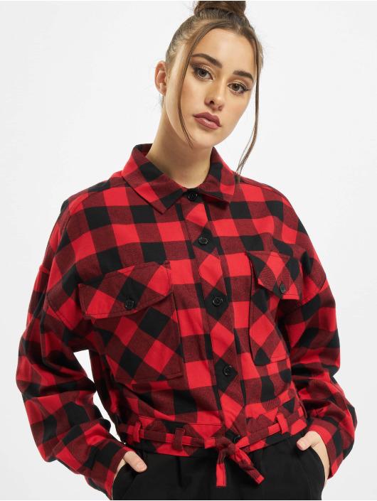 Urban Classics Skjorta Ladies Short Oversized Check svart