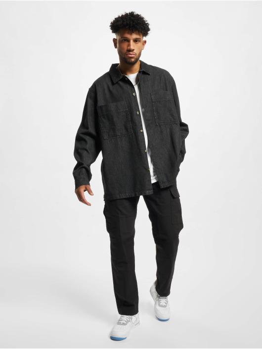 Urban Classics Skjorta Oversized Denim svart