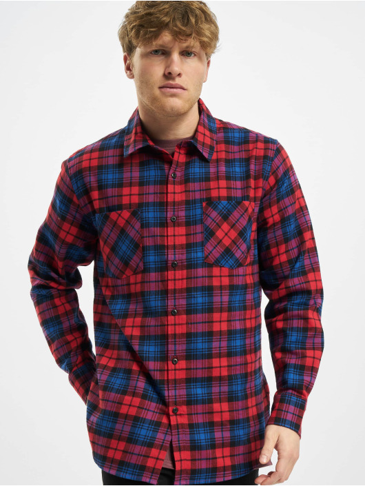 Urban Classics Skjorte Checked Flanell rød