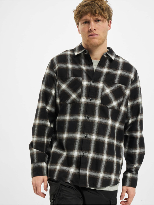 Urban Classics Skjorte Checked 6 Flanell sort