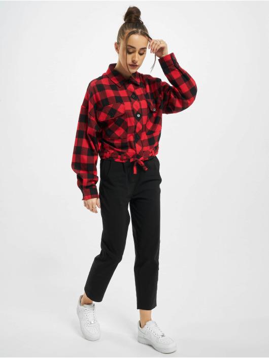 Urban Classics Skjorte Ladies Short Oversized Check sort