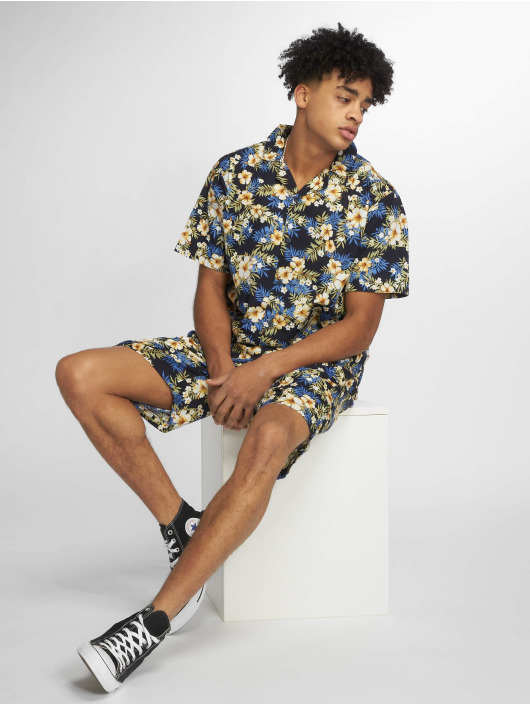 Urban Classics Skjorter Pattern Resort blå