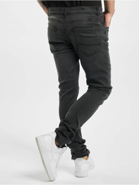 Urban Classics Slim Fit Jeans Slim Fit Zip čern