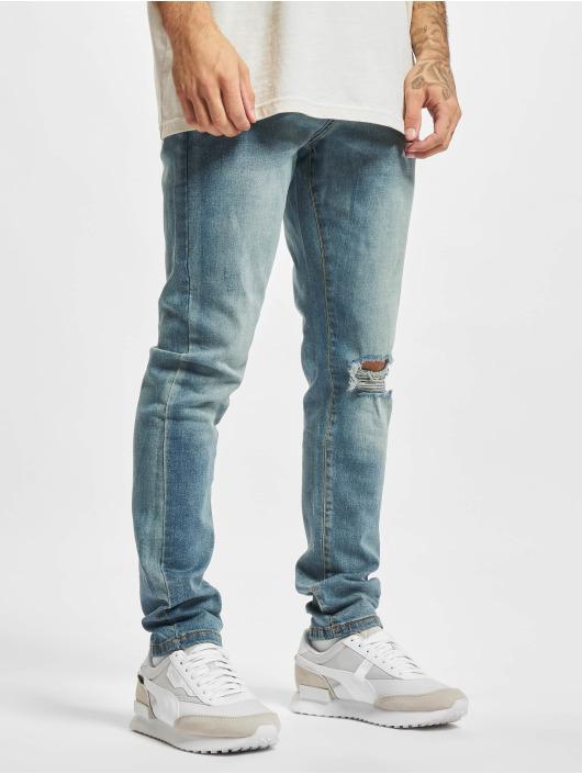 Urban Classics Slim Fit Jeans Slim Fit Drawstring modrý