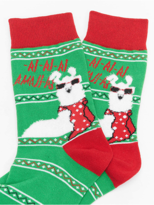 Urban Classics Socken Christmas Lama Mix bunt
