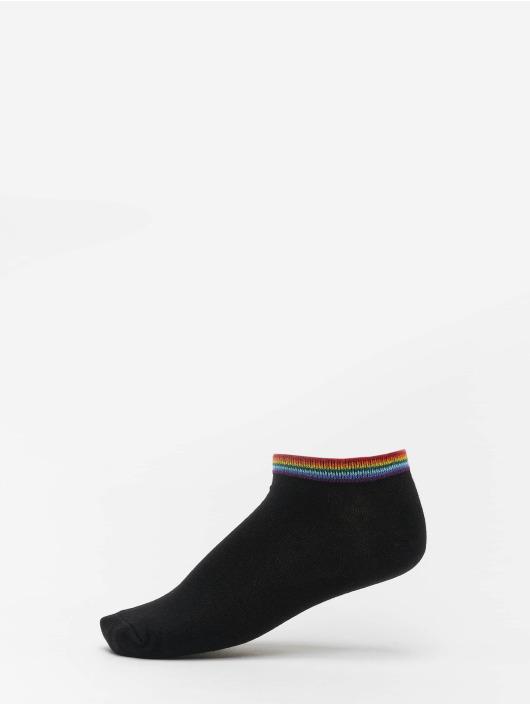 Urban Classics Socken Rainbow Socks No Show 4-Pack schwarz