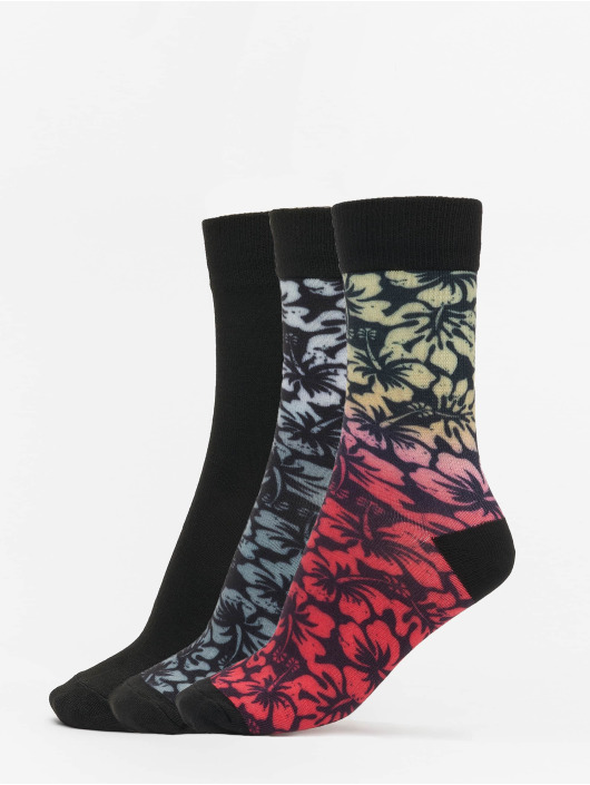 Urban Classics Socks Flower Socks 3-Pack black