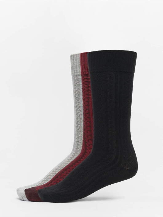 Urban Classics Socks Cosy Jaquard 3-Pack black