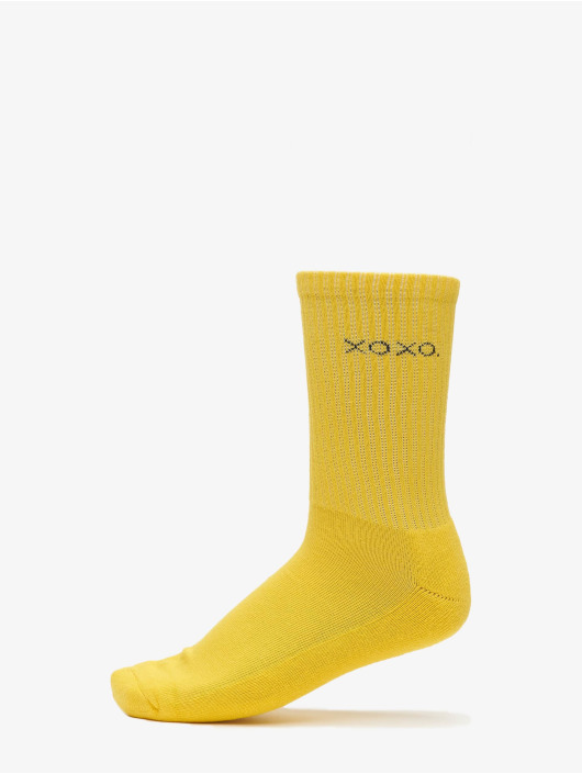 Urban Classics Sokken Wording Socks 3-Pack geel