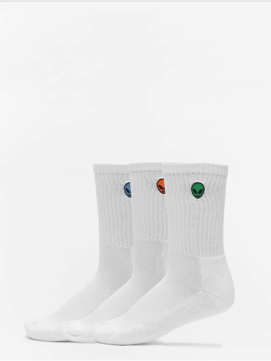 Urban Classics Sokken Alien Socks 3-Pack wit
