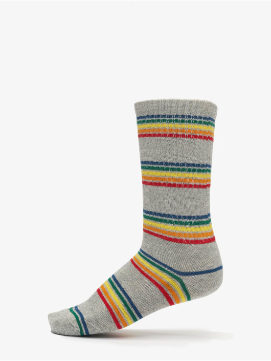 Urban Classics Sokken Rainbow Stripes Socks 2-Pack zwart