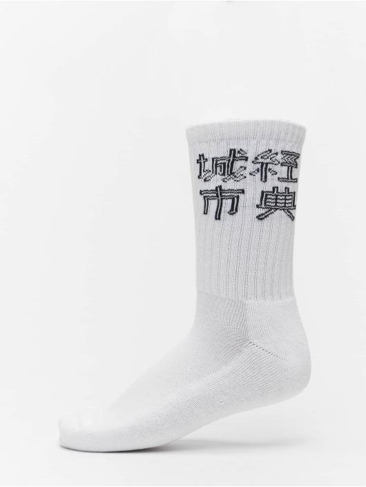 Urban Classics Sokken Chinese Logo 3-Pack zwart