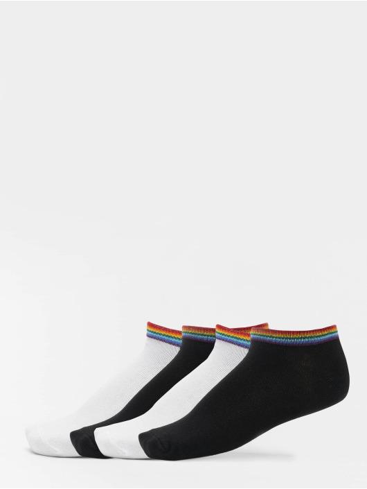 Urban Classics Sokker Rainbow Socks No Show 4-Pack svart