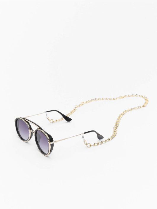 Urban Classics Sonnenbrille Sunglasses Ibiza With Chain schwarz