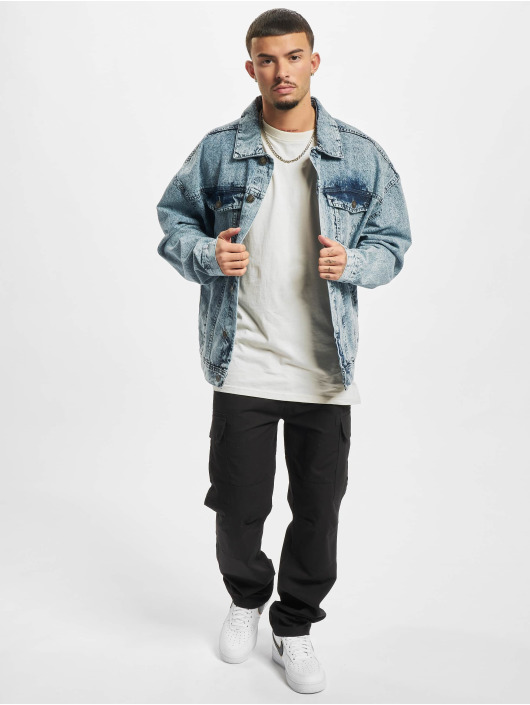 Urban Classics Spijkerjasjes Oversized Denim blauw