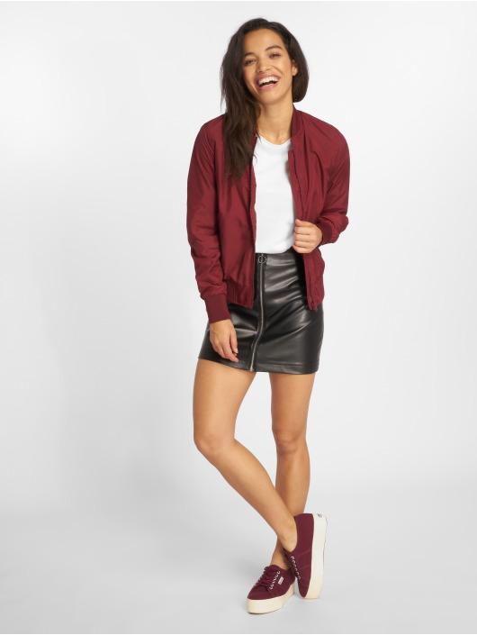 Urban Classics Spódniczki Faux Leather Zip czarny