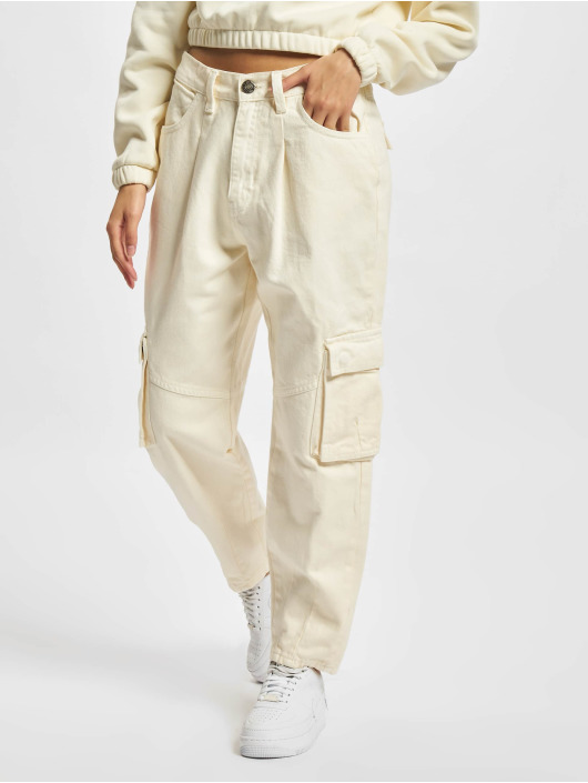Urban Classics Spodnie Chino/Cargo Ladies Ballon Fit bezowy