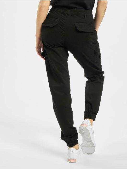 Urban Classics Spodnie Chino/Cargo Ladies High Waist Cargo czarny