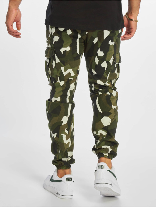 Urban Classics Spodnie Chino/Cargo Geometric Stretch Twill moro